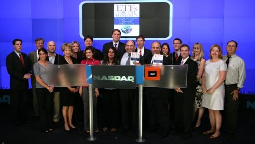 My friends in and out of the ETF industry join me as I ring the Closing Bell at the Nasdaq Stock Market Aug. 19, 2008