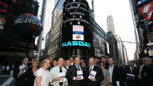 My friends and I in the middle of Times Square. When the Nasdaq's behind you like this, you know this is an important book. What are you waiting for? Order a copy now.
